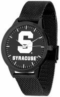 Syracuse Orange Black Dial Mesh Statement Watch