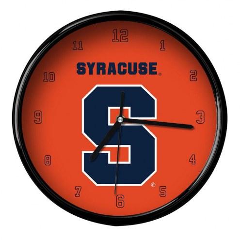 Syracuse Orange Black Rim Clock