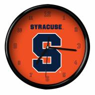 Syracuse Orange Black Rim Clock