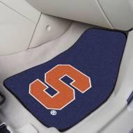 Syracuse Orange Blue 2-Piece Carpet Car Mats