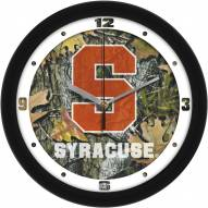 Syracuse Orange Camo Wall Clock