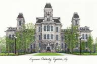 Syracuse Orange Campus Images Lithograph