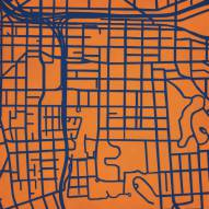 Syracuse Orange Campus Map Print