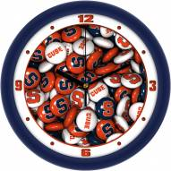 Syracuse Orange Candy Wall Clock