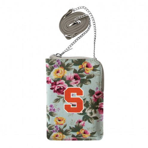 Syracuse Orange Canvas Floral Smart Purse