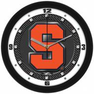 Syracuse Orange Carbon Fiber Wall Clock