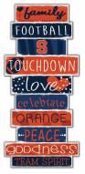 Syracuse Orange Celebrations Stack Sign