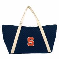 Syracuse Orange Chevron Stitch Weekender Bag