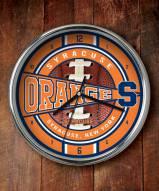 Syracuse Orange Chrome Wall Clock