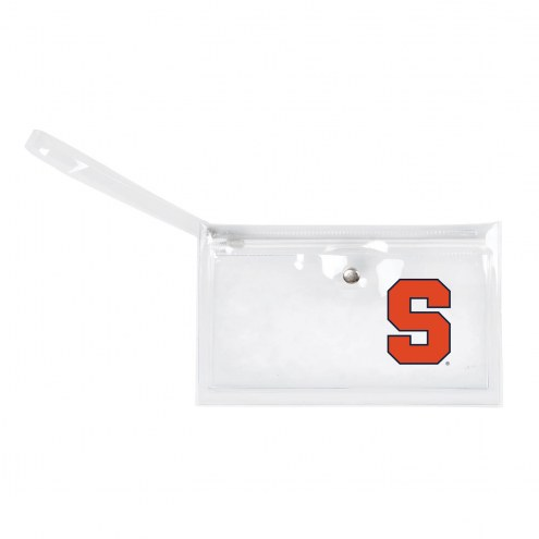 Syracuse Orange Clear Ticket Wristlet