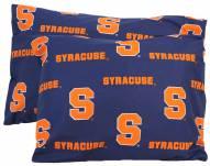 Syracuse Orange Printed Pillowcase Set