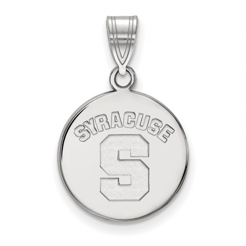 Syracuse Orange Sterling Silver Medium Disc Pendant