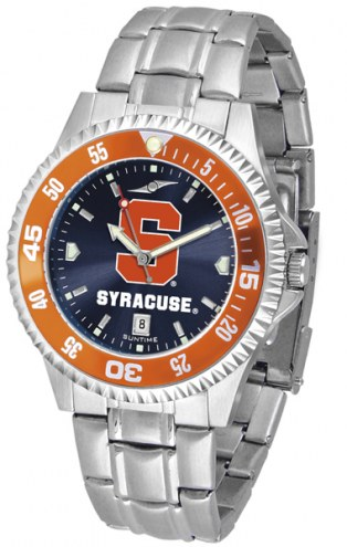 Syracuse Orange Competitor Steel AnoChrome Color Bezel Men's Watch