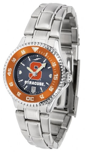 Syracuse Orange Competitor Steel AnoChrome Women's Watch - Color Bezel