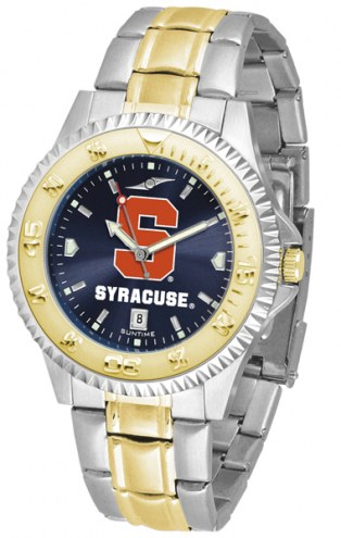 Syracuse Orange Competitor Two-Tone AnoChrome Men's Watch