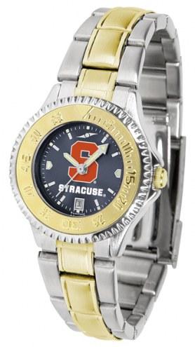 Syracuse Orange Competitor Two-Tone AnoChrome Women's Watch