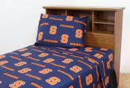 Syracuse Orange Dark Bed Sheets