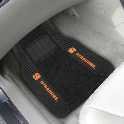 Syracuse Orange Deluxe Car Floor Mat Set