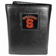 Syracuse Orange Deluxe Leather Tri-fold Wallet in Gift Box