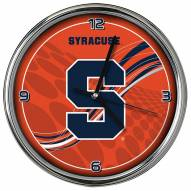 Syracuse Orange Dynamic Chrome Clock