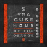 Syracuse Orange Eye Chart
