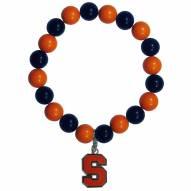 Syracuse Orange Fan Bead Bracelet