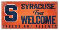 Syracuse Orange Fans Welcome Sign