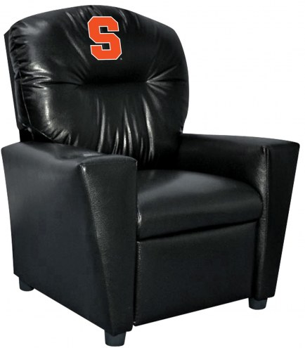 Syracuse Orange Faux Leather Kid's Recliner