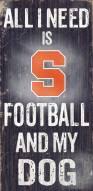 Syracuse Orange Football & Dog Wood Sign