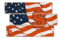 Syracuse Orange Flag 3 Plank Sign