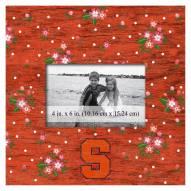"Syracuse Orange Floral 10"" x 10"" Picture Frame"