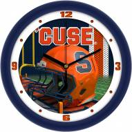 Syracuse Orange Football Helmet Wall Clock