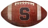 Syracuse Orange Football Shaped Sign
