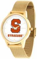Syracuse Orange Gold Mesh Statement Watch