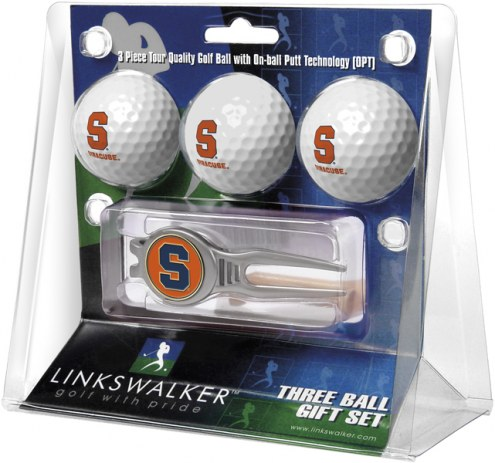 Syracuse Orange Golf Ball Gift Pack with Kool Tool