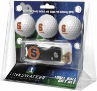 Syracuse Orange Golf Ball Gift Pack with Spring Action Divot Tool