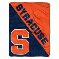 Syracuse Orange Halftone Raschel Blanket