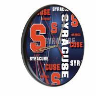 Syracuse Orange Digitally Printed Wood Clock