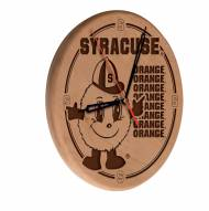 Syracuse Orange Laser Engraved Wood Clock