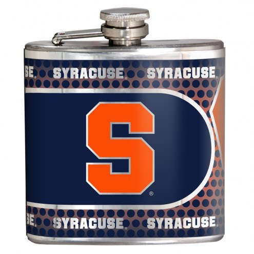 Syracuse Orange Hi-Def Stainless Steel Flask