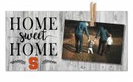 Syracuse Orange Home Sweet Home Clothespin Frame