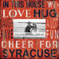 """Syracuse Orange In This House 10"""" x 10"""" Picture Frame"""