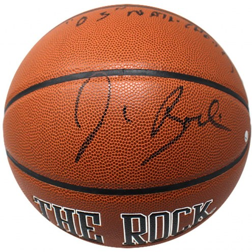"Syracuse Orange Jim Boeheim Signed The Rock Game Model Basketball w/ ""03 Champs"""