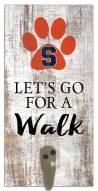 Syracuse Orange Leash Holder Sign