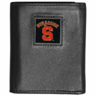 Syracuse Orange Leather Tri-fold Wallet
