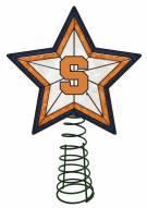 Syracuse Orange Light Up Art Glass Tree Topper