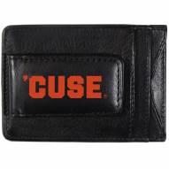 Syracuse Orange Logo Leather Cash and Cardholder