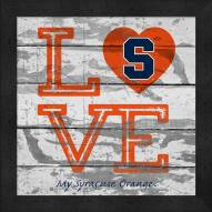 Syracuse Orange Love My Team Square Wall Decor