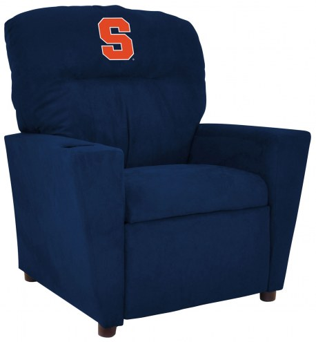 Syracuse Orange Microfiber Kid's Recliner
