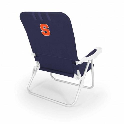 Syracuse Orange Navy Monaco Beach Chair